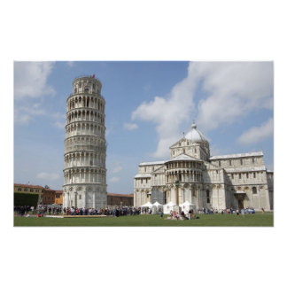Italy, Pisa. Leaning Tower of Pisa and Art Photo