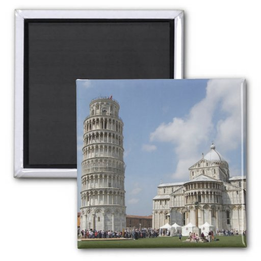 Italy, Pisa. Leaning Tower of Pisa and Magnets