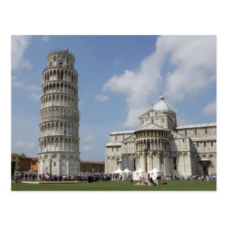 Italy Pisa Leaning Tower of Pisa and Postcard
