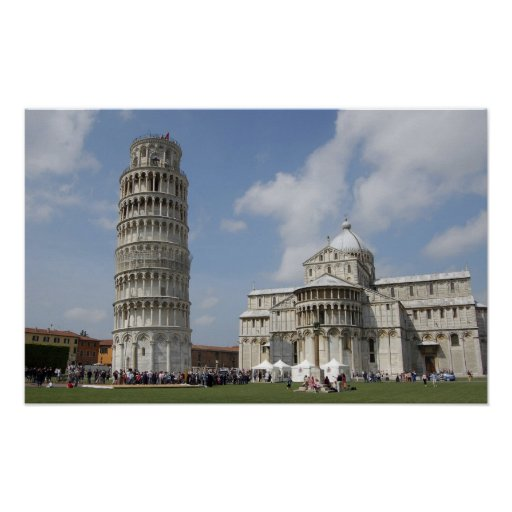 Italy, Pisa. Leaning Tower of Pisa and Posters