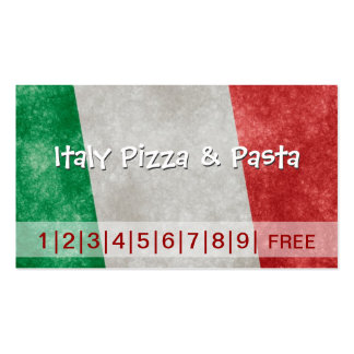Italy Pizza & Pasta Business Loyalty Punch Card Pack Of Standard Business Cards
