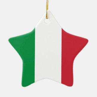 Italy Plain Flag Christmas Ornament