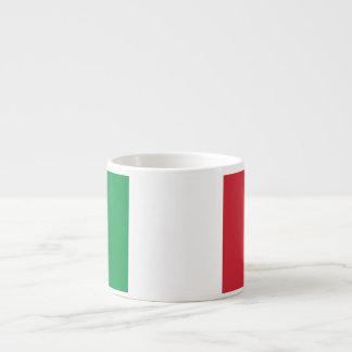 Italy Plain Flag Espresso Mug