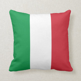Italy Plain Flag Throw Pillow