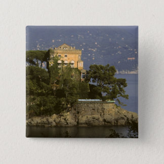 Italy, Portofino. Scenic life on the 15 Cm Square Badge