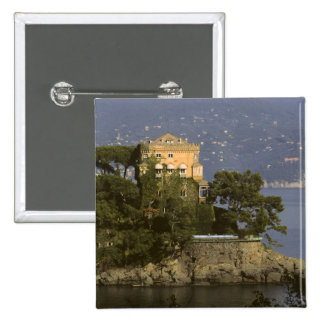 Italy, Portofino. Scenic life on the 15 Cm Square Badge