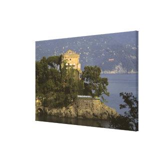Italy, Portofino. Scenic life on the Canvas Print