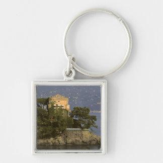 Italy, Portofino. Scenic life on the Silver-Colored Square Key Ring