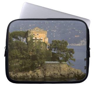 Italy, Portofino. Scenic life on the Laptop Sleeve