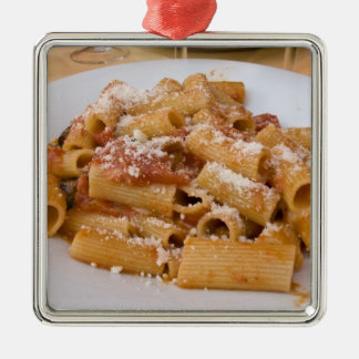 Italy, Positano. Display plate of rigatoni. Christmas Ornament