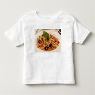 Italy, Positano. Plate of pasta and eggplant. Toddler T-Shirt