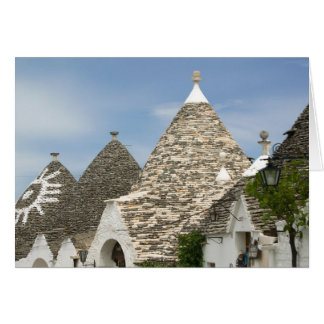Italy, Puglia, Alberobello, Terra dei Trulli, Greeting Card