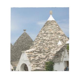 Italy, Puglia, Alberobello, Terra dei Trulli, Notepad