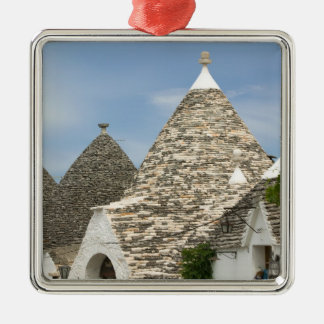 Italy, Puglia, Alberobello, Terra dei Trulli, Silver-Colored Square Decoration