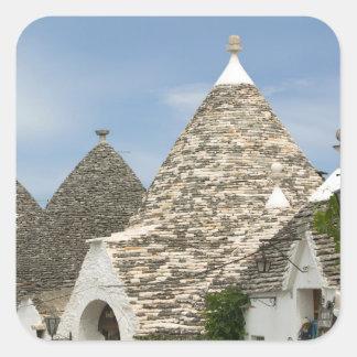 Italy, Puglia, Alberobello, Terra dei Trulli, Square Stickers
