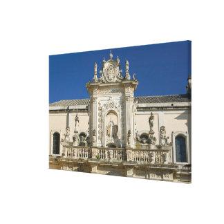 Italy, Puglia, Lecce, Piazza del Duomo, Palazzo Canvas Print