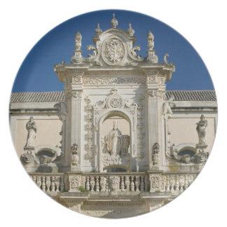 Italy, Puglia, Lecce, Piazza del Duomo, Palazzo Plates