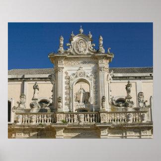 Italy, Puglia, Lecce, Piazza del Duomo, Palazzo Poster