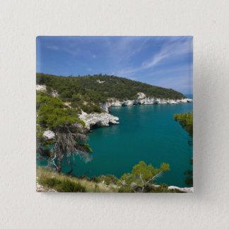 Italy, Puglia, Promontorio del Gargano, Testa 15 Cm Square Badge