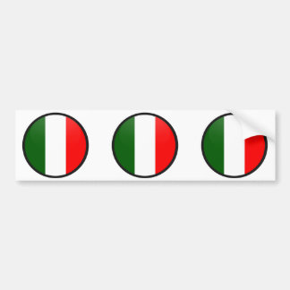 Italy quality Flag Circle Bumper Sticker