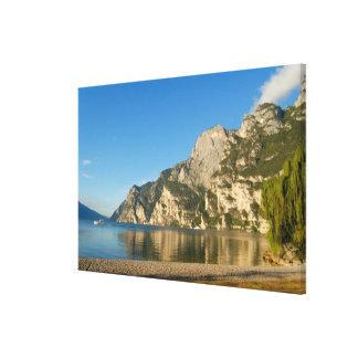 Italy, Riva del Garda, Lake Garda, Mount Canvas Print