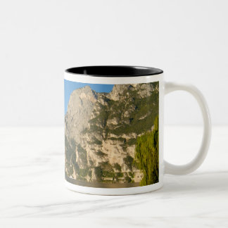Italy, Riva del Garda, Lake Garda, Mount Two-Tone Coffee Mug