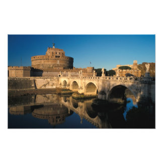 Italy, Rome, Castel Sant'Angelo and river Photo Print