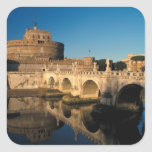 Italy, Rome, Castel Sant'Angelo and river Square Sticker