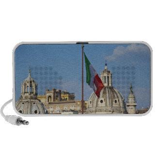 Italy, Rome. Italian flag Laptop Speaker