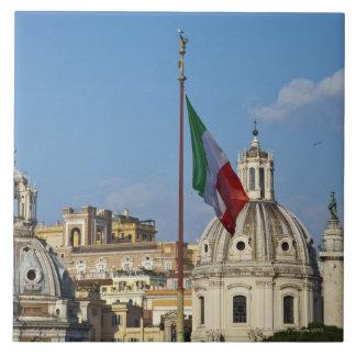 Italy, Rome. Italian flag Tile