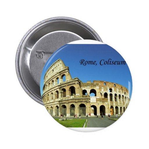 Italy, Rome, Roman Coliseum (St.K.) 6 Cm Round Badge