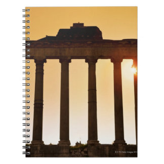 Italy, Rome, Roman Forum, Temple of Saturn Notebook