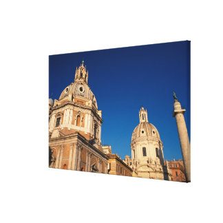 Italy, Rome, Santa Maria di Loreto church and Canvas Print