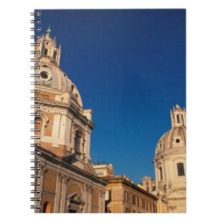 Italy, Rome, Santa Maria di Loreto church and Notebook