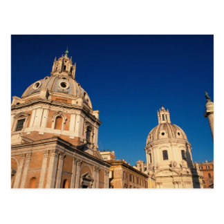 Italy, Rome, Santa Maria di Loreto church and Postcard