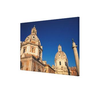 Italy, Rome, Santa Maria di Loreto church and Stretched Canvas Prints
