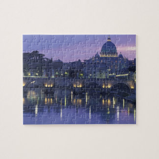 Italy, Rome St. Peter's and Ponte Sant Angelo, Jigsaw Puzzle