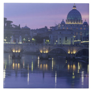 Italy, Rome St. Peter's and Ponte Sant Angelo, Tile