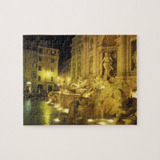 Italy, Rome. Trevi Fountain at night. Jigsaw Puzzle