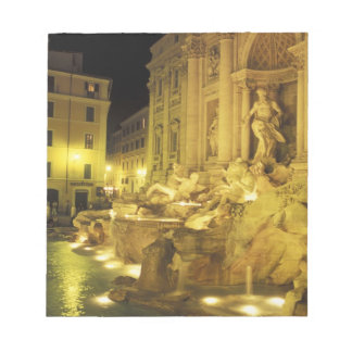 Italy, Rome. Trevi Fountain at night. Notepad