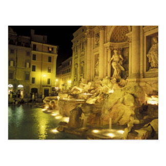 Italy Rome Trevi Fountain at night Post Cards