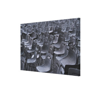 Italy, Rome, Vatican City, Outdoor chairs on Canvas Print