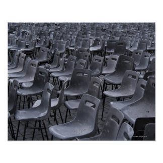Italy, Rome, Vatican City, Outdoor chairs on Poster