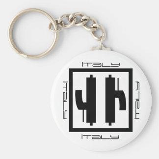 Italy - Roundel Basic Round Button Key Ring