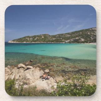 Italy, Sardinia, Baja Sardinia. Resort beach. Coaster