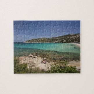 Italy, Sardinia, Baja Sardinia. Resort beach. Jigsaw Puzzle