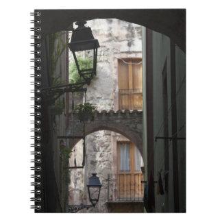 Italy, Sardinia, Bosa. Street detail. Notebook