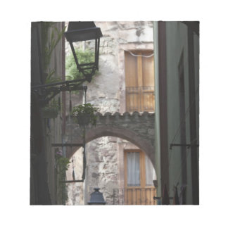 Italy, Sardinia, Bosa. Street detail. Notepad
