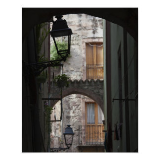 Italy, Sardinia, Bosa. Street detail. Poster