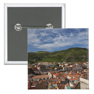 Italy, Sardinia, Bosa. Town view from Castello 2 15 Cm Square Badge